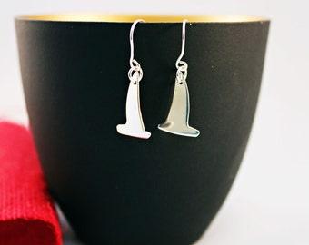 Sterling Silver Yacht Earrings - Silver Yacht Earrings - Nautical Earrings - Sailboat Earrings - Nautical Jewelry - Beach Jewellery