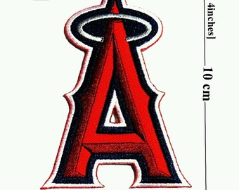 Los Angeles Angels of Anaheim Logo Team Embroidered Iron On Patch.