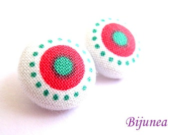 Polka dot earrings - Polka dot stud earrings - Polka dot posts - Polka dot studs - Dot post earrings sf388