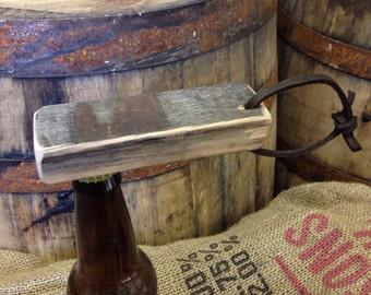 Magnetic Bottle Opener, Bourbon Barrel, Handheld, Beer Bottle Opener for him, husband, groomsman, man cave, Fathers Day