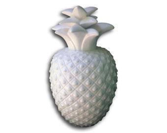 Large Oversized Majolica White Pineapple