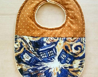 Doctor Who inspired Baby Bib, Doctor Who Baby shower, Dr.Who, Dr.who bib