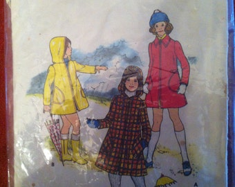 Butterick 3311 Pattern Girl's Coat 1960s