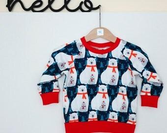 Sale price 5-6 years Polar bear jumper sweater