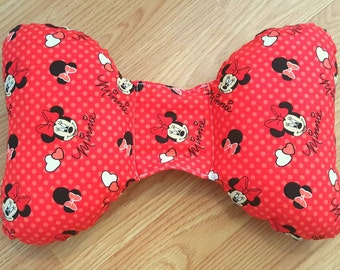 Minnie Mouse Infant Head Support - Torticollis - Positional Plagiocephaly - Elephant Ear Pillow - Car Seat Head Support -  Baby Shower Gift