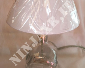 Board furniture lamp empty bottle Tequila Patron abatjour lampshades upcycling reuse gift idea