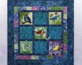 Bella Garden 4 - EVENSONG Art Quilt Pattern by McKenna Ryan song birds evening