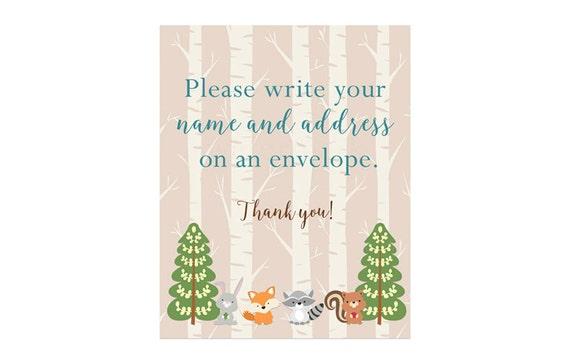 Address An Envelope Sign Woodland Address An Envelope Please