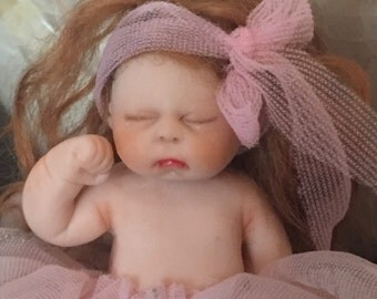 Hand made ooak clay baby