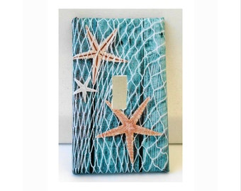 Starfish Switch Plate/Cover, Beach Décor