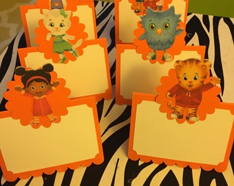 Daniel Tiger food tent cards-12 per order