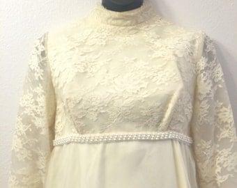 1960's -1970's style wedding dress