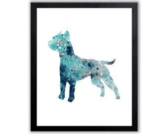 Pitbull Gift, Staffordshire Bull Terrier, American Staffordshire Terrier, Am Staff, Limited Edition Art Print