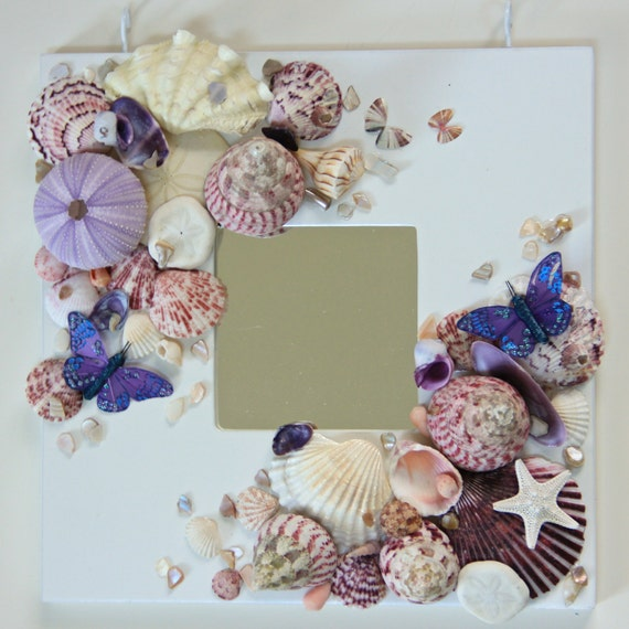 Mirror Butterfly Wall Decor Target : Items similar to wall mirror with shells for beach decor