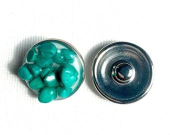Snap charm Magnesite gemstone snap jewelry jewelry interchangeable charm bracelet