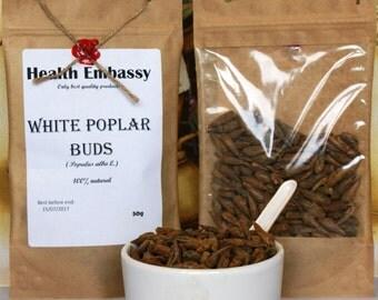 White Poplar Buds (Populus alba L.) - Health Embassy - Organic