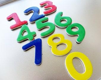 Magnetic Numbers Set, Refrigerator Learning Magnets, Math Magnet Set