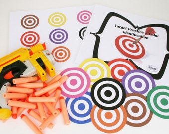 Nerf Target Practice, Color Matching Game, Color Sorting Game, Point and Shoot Game
