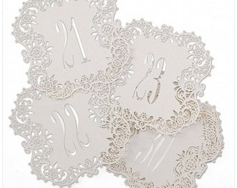 Laser Cut Table Cards for Wedding Reception and Parties (Number 21-30)