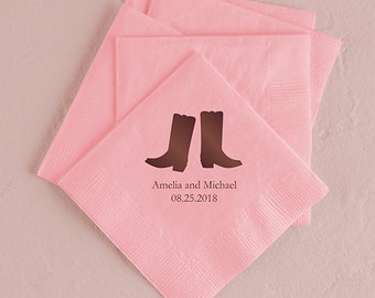 Cowboy Boots Wedding Napkins (Pack of 100) Country Western Wedding
