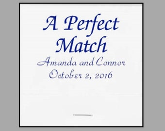 A Perfect Match Wedding Matchbooks Favors Personalized