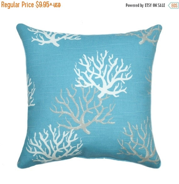 Beach Decor Pillow Coral Pillow Cover by ThePillowCoverStore