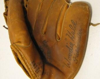 Vintage Wilson Woodie Held Baseball Glove A2984 Fieldmaster USA