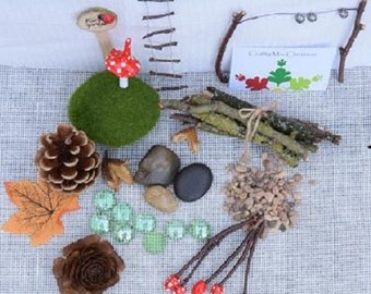 DIY / Make your own fairy garden kit - toadstools, ladder, washing line, signpost, and more