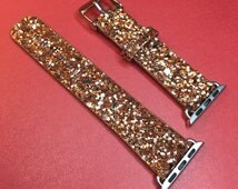 Apple Watch ~ Gold Glitter/Sparkle Watch Bling Band 38mm / 42mm