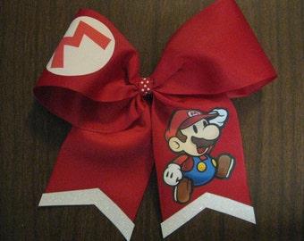 Mario Super Marios Cheer Style Hair Bow