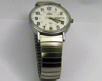 Timex Indiglo Watch with Date Water Resistant Stainless Steel Band