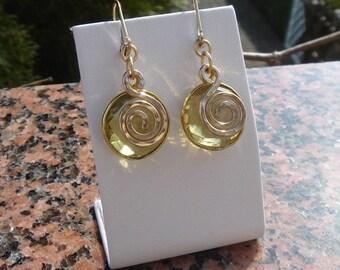 Earrings of lemontopas in 585-er Goldfilled