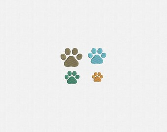 Mini Paw Print Machine Embroidery Design - 4 Sizes