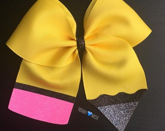Yellow pencil bow