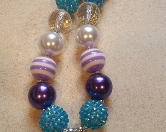 My Little Pony Rarity inspired 20 mm Chunky Bubblegum necklace
