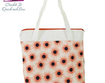 Sun Flowers Shoulder Purse or Lunchbox