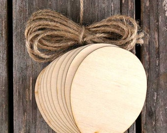 10x Wooden Plain Egg Craft Shape 3mm Ply