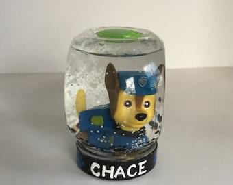 Personalized Snowglobe - Paw Patrol Snow Globe - Chase Snowglobe