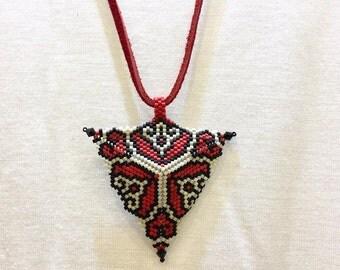 Miyuki Necklace, Peyote necklace, Miyuki Beaded Necklace, Boho Necklace, Modern Necklace