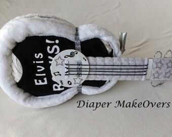 Guitar Diaper Cake Supplies