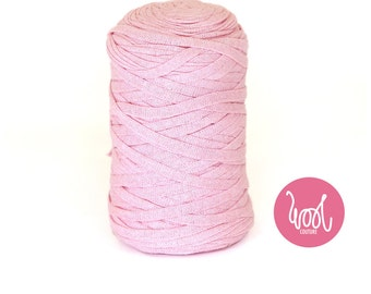 Chunky Cotton Yarn. Candy pink Super chunky fabric yarn. Super bulky wool. Giant big extreme knitting. Y059