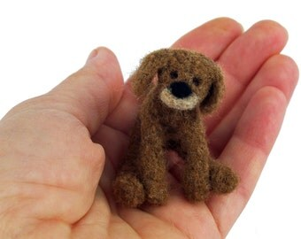 Decorative miniature puppy dog felted seasonal ornaments, Jahreszeitendeko. Felt figure, Filztier, felt animals. Felt, dog needle felted. TaFiOLand