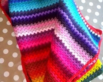 Plaid stripes 70 colors crochet