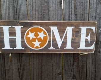 Wood signs, Tennessee sign, Tennessee state flag, University of Tennessee Wood sign, Tennessee home sign, TN shaped sign, home shelf sign