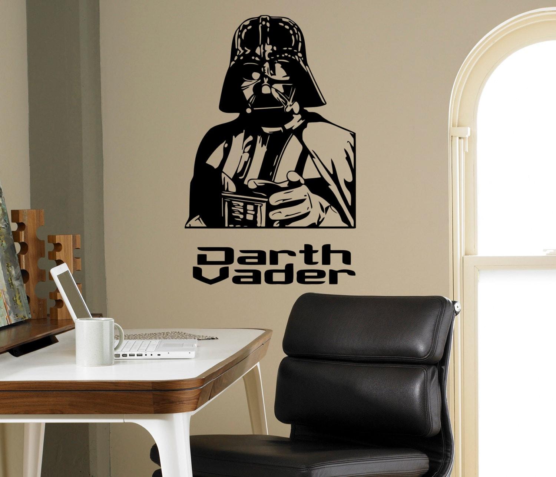Darth vader star wars mur vinyle autocollant skywalker mur for Autocollant mural star wars