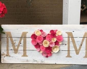 Mom Flower Sign