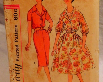 Simplicity 3009 Women's Dress with Two Skirts Vintage Sewing Pattern
