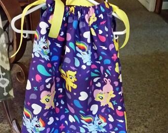 My Little Pony pillowcase dress-size: 24 months