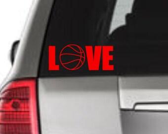 Love Basketball Window Decal, Basketball Window Decal, Love Basketball Car Decal, Basketball Car Decal, Basketball Vinyl Decal, Basketball