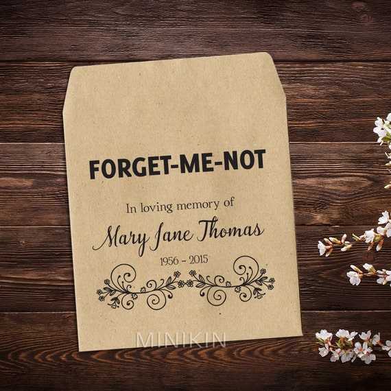 Memorial Favour Memorial Gift Forget Me Not Funeral Thank